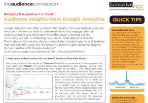 Google Analytics tip sheet image